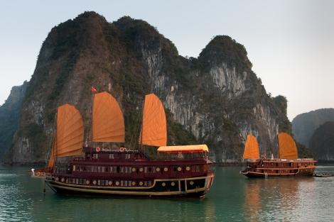 Junk Boats in Halong Bay