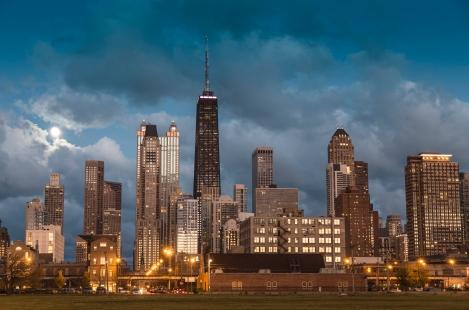 Old town Chicago Skyline