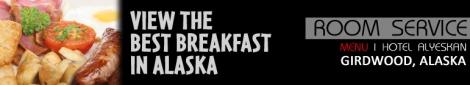 Hotel Alyeska Room Service Menu