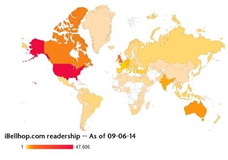 iBellhop readership -- As of 09-06-14