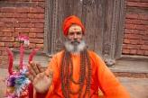 Sadhu with trident Nepal