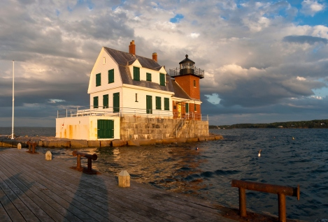 Rockland Breakwater Lighthouse in Late Afternoon, Maine
