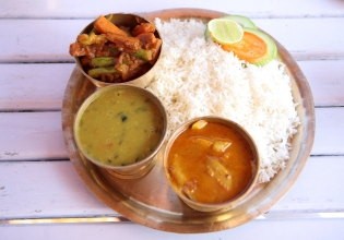 Typical food of Nepal