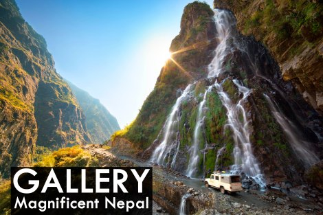 Roadside waterfall, Nepal
