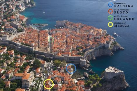 Restaurants in Dubrovnik Map 2