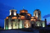 Plaosnik church in Ohrid Macedonia at night