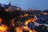 Luxembourg skyline at night