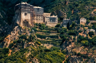 Simonos Petra monastery, Mt. Athos, Greece