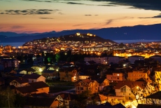 Night view - the city of Ohrid