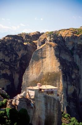 Roussanou Monastery on a cliff, Mount Athos, Meteora, Greece