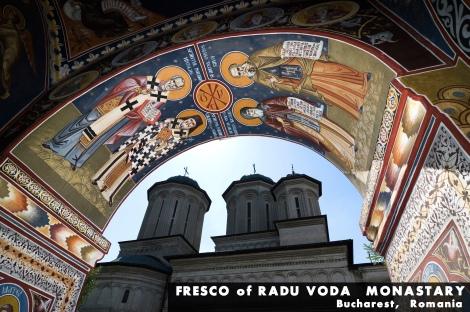 Fresco Of Radu Voda Monastery In Bucharest, Romania