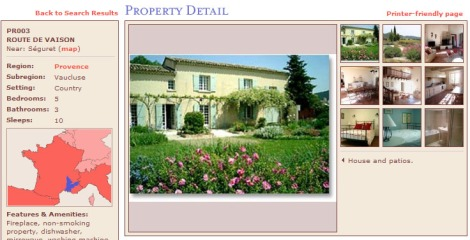 Provence vacation homes