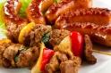 Skewers and sausages