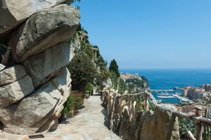 Cliffside View of Monte Carlo and the Mediterranean Sea