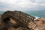 Wooden bridge at seaside