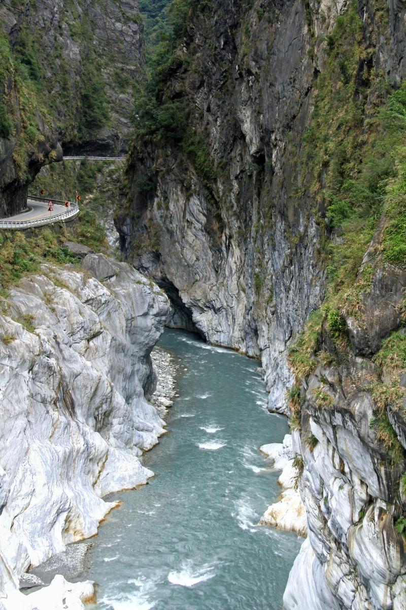 Very Narrow Roads along the Liwu River, Taiwan