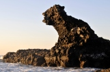 Amazing rock by the ocean, El Tunco, Salvador