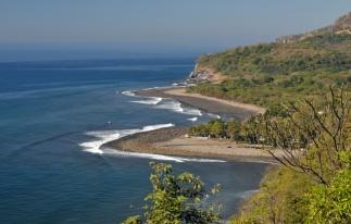 Pacific Ocean shore, El Salvador