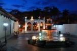Latin town at Sunset