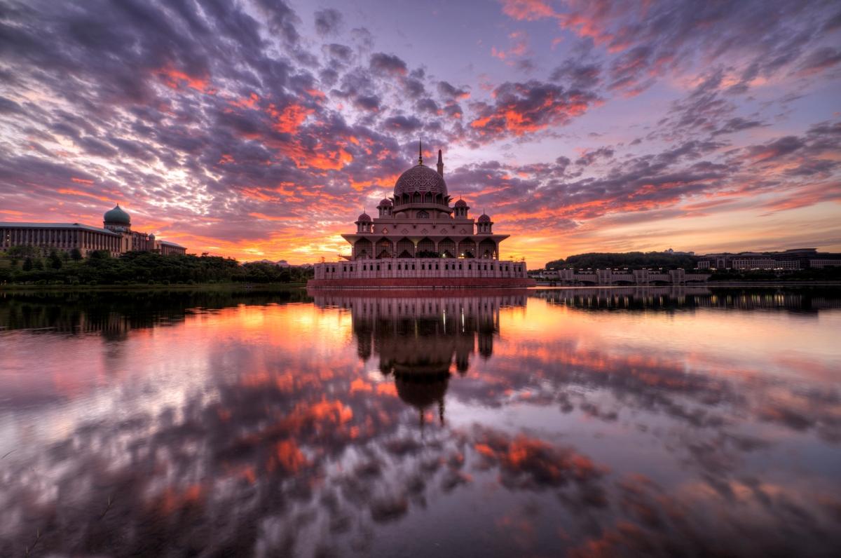 Sunrise at Putra Mosque, Putrajaya, Malaysia