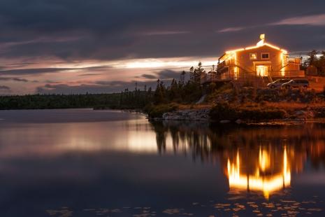 Waterfront house in Nova Scotia