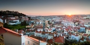 Lisbon panoramic sunset