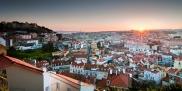 Lisbon panoramic sunset
