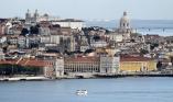 Lisbon - old quarters near river Tagus