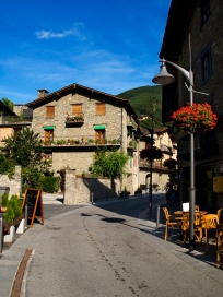 Street in Ordino, Andorra. A really nice place to enjoy nature activities.