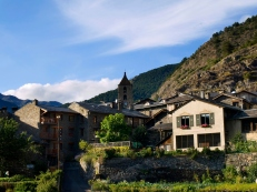 Panoramic view of Ordino, one of the most beautiful towns in Andorra