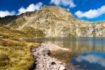 Meadow and small lake - Pedourres in Andorra - Pyrenees