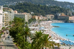 riviera waterfront in nice france