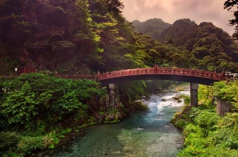Sacred bridge Shinkyo, Japan