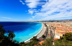 aerial view of beach in Nice