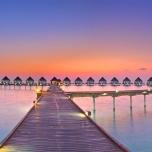 Maldives sunset panorama