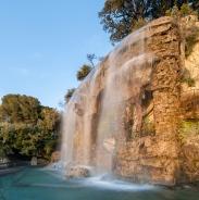 Waterfall in Parc de la Colline du Château, Nice, France
