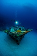 Wreck diving in the Maldives