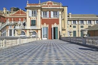 Italian historical palace in Genoa, Italy