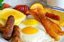 Hearty American Breakfast in hotel