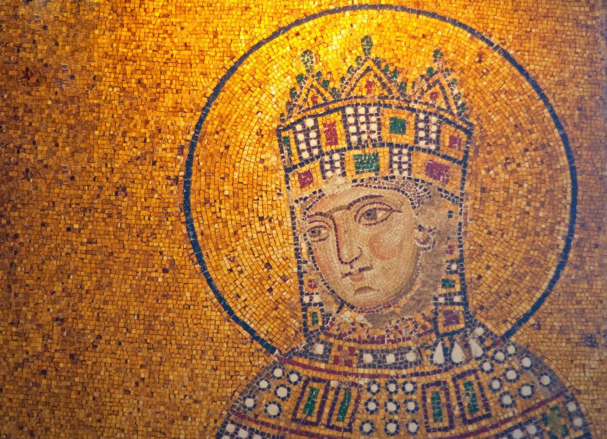 Detail of antique Empress Zoe Mosaics