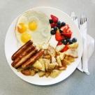 Big breakfast From Hotel Kitchen Room Service