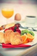 Breakfast croissant Hotel Room Service