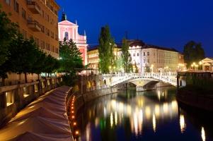 Ljubljana Slovenia - Triple bridge