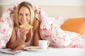 Hotel Breakfast in Bed Comfortable Room Service