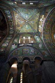 green Ceiling Mosaic in Basilica San Vitale, Ravenna