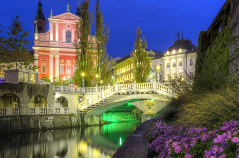 Beautiful Ljubljana, Slovenia