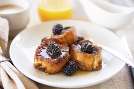 French Toast With Blackberries