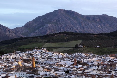 Antequera at dusk. Andalusia, Spain