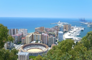 Nice view of Malaga.