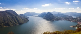 Lugano lake panorama